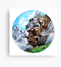Howl's Moving Castle (Circle Scenery)  Canvas Print