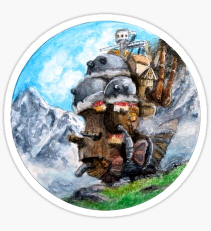 Howl's Moving Castle (Circle Scenery)  Sticker