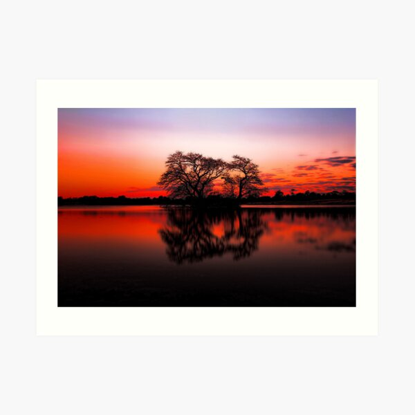 The Lakes at Sunset Art Print