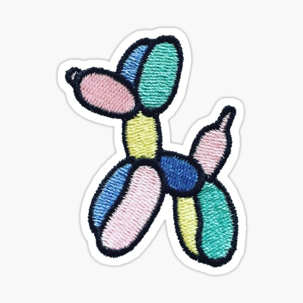 Balloon Dog Patch Sticker