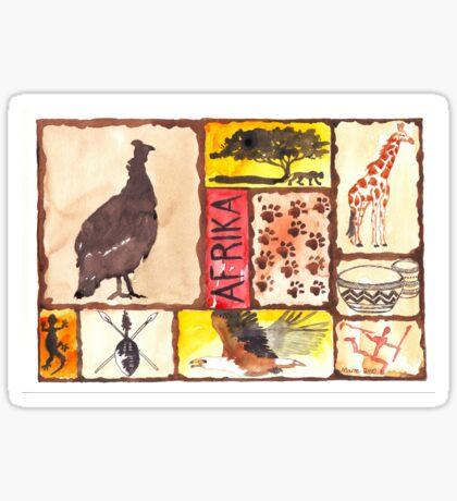 Lodge décor - 'n Afrika Collage en Bosvelddrome | An African Collage Sticker