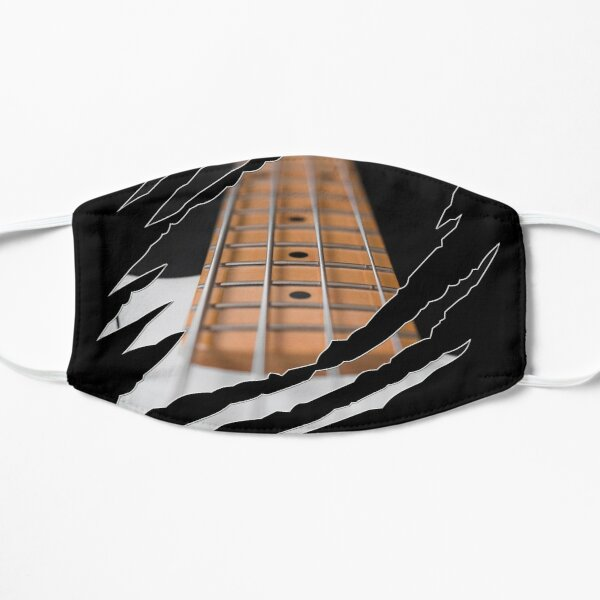 Bass Guitar Ripped Shirts For Bass Players Mask