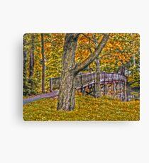 Footbridge in the Fall - Advanced HDR Canvas Print