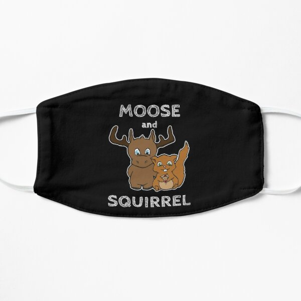 Moose and squirrel with text Mask