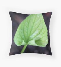 Wild Violet Leaf - Daily Homework - Day 20 - May 27, 2012 Throw Pillow