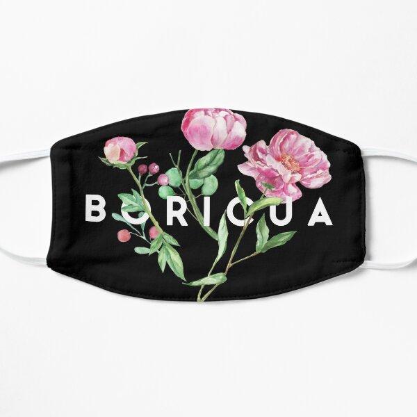Mascarilla Boricua Floral Mascarilla plana