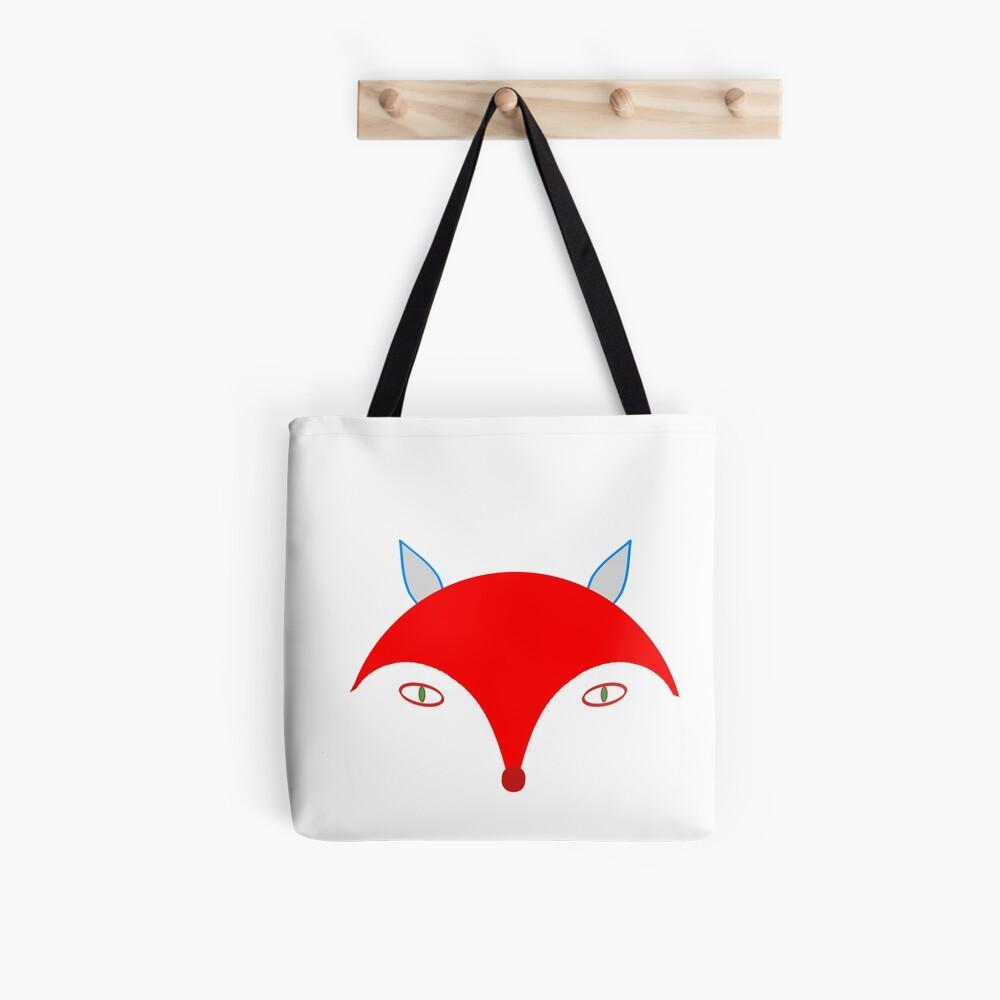 Red Fox (White) Tote Bag