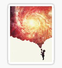 The universe in a soap-bubble! Sticker