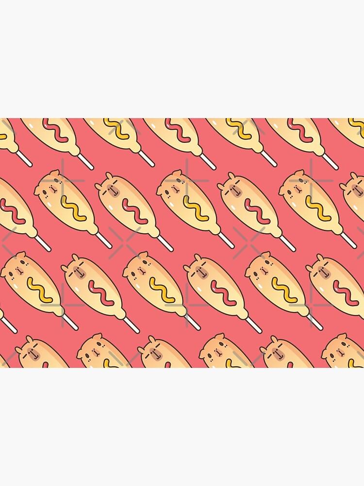 Bubu and Moonch, Corn Dogs Pattern  by Miri-Noristudio