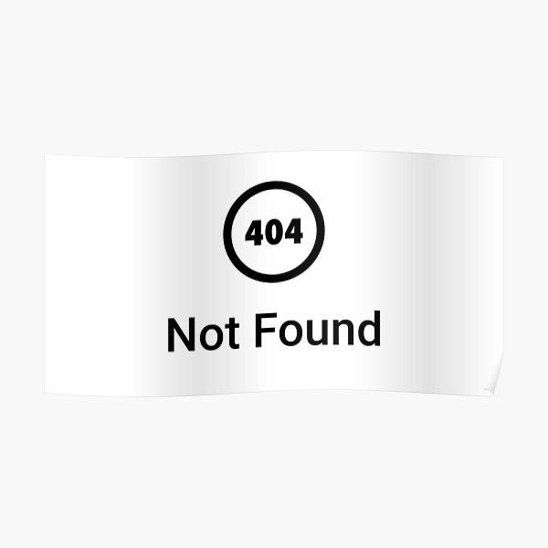 Error 404 not found  Poster