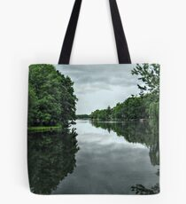 View Of The Lake From the Footbridge, Packanack, Wayne NJ Tote Bag