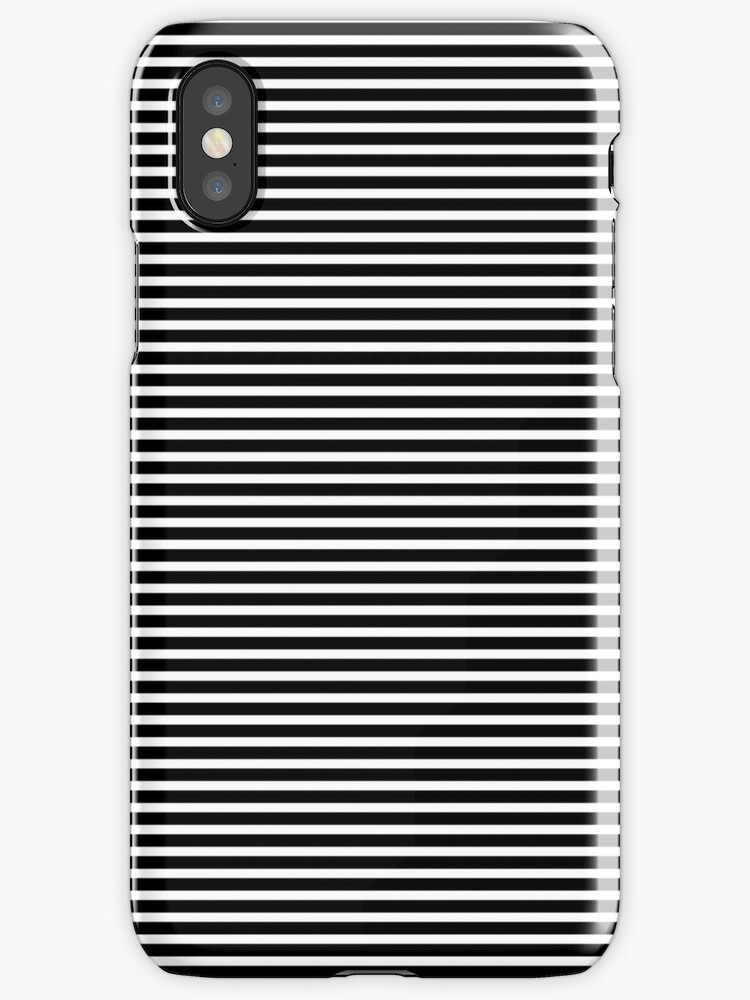 Black and White Stripes iPhone Case by Dtaktics