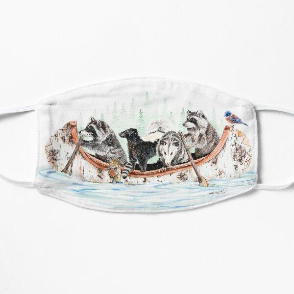 Critter Canoe - forest animals Flat Mask