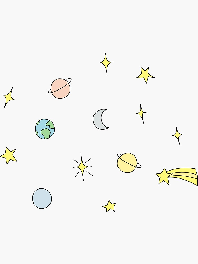 Stars and Planets Set by MaPetiteFleur