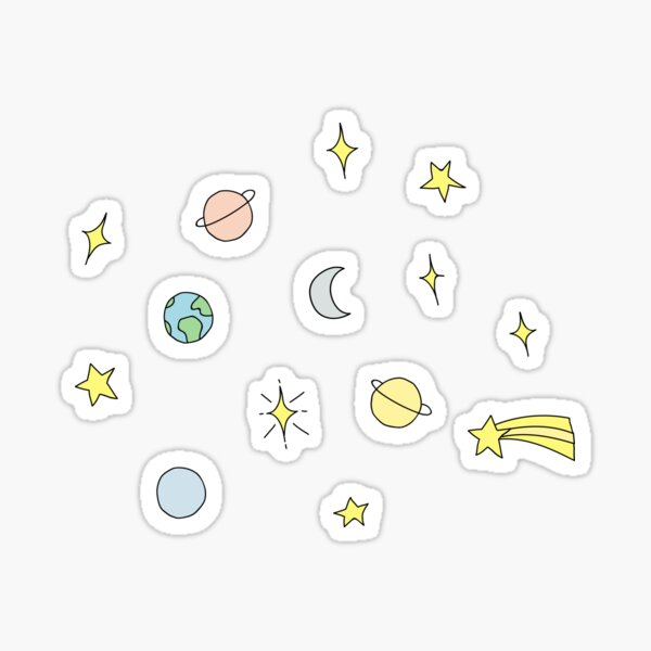 Stars and Planets Set Sticker