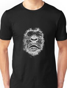 Black and White Face Of A Gorilla T-Shirt