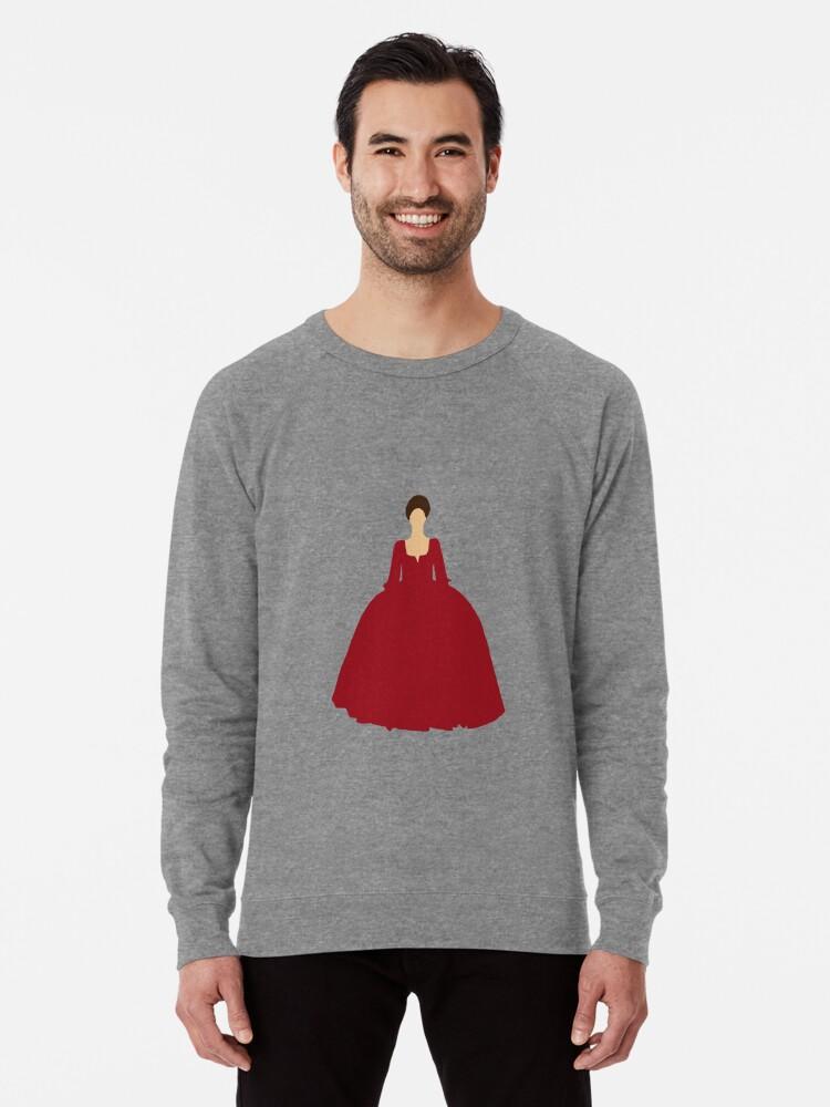 Claire Fraser Outlander Red Dress Lightweight Sweatshirt By Unitedfandomss Redbubble