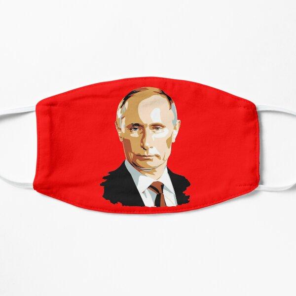 PUTIN. ILLUSTRATION on RED. Flat Mask