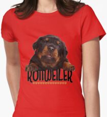Rottweiler Love Womens Fitted T-Shirt