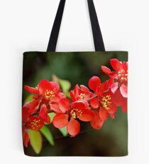 Japanese Quince branch Tote Bag