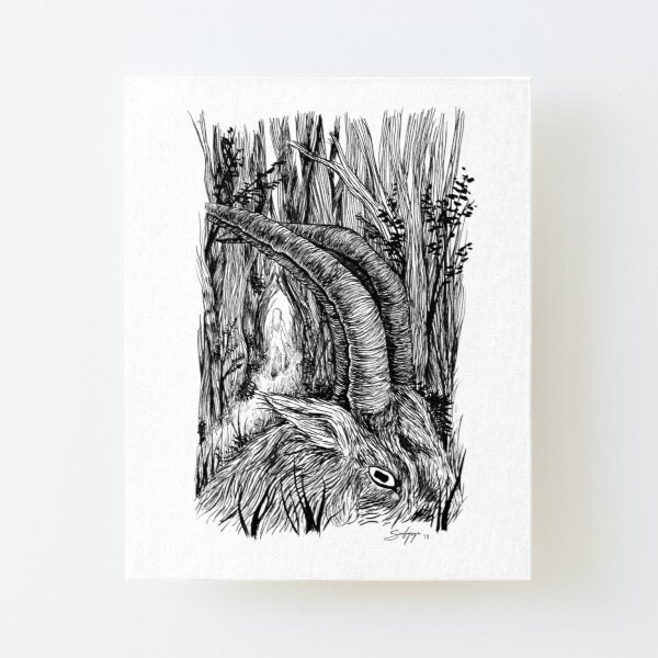 The Witch Canvas Mounted Print