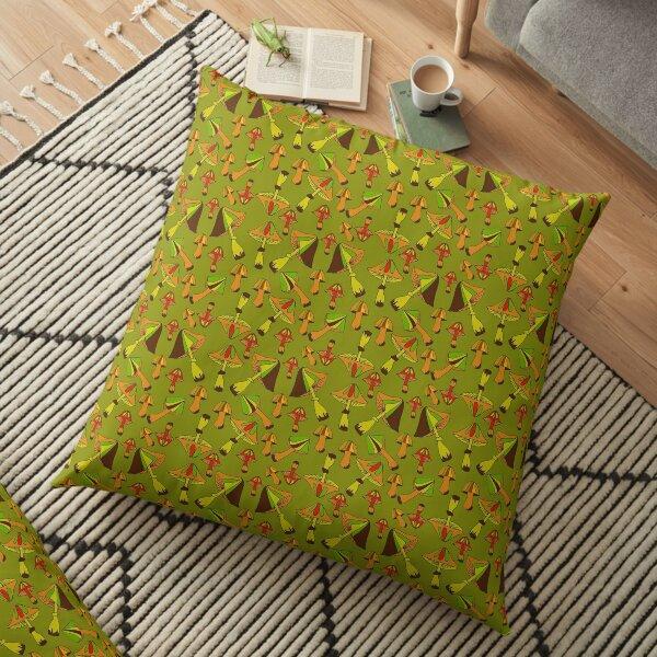 Psychedelic Mushrooms  Floor Pillow