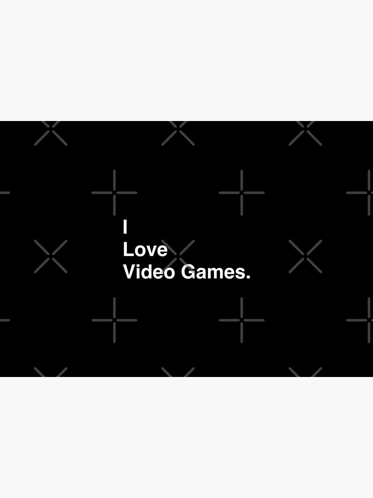 I Love Video Games Simple Text by BaptisteB1