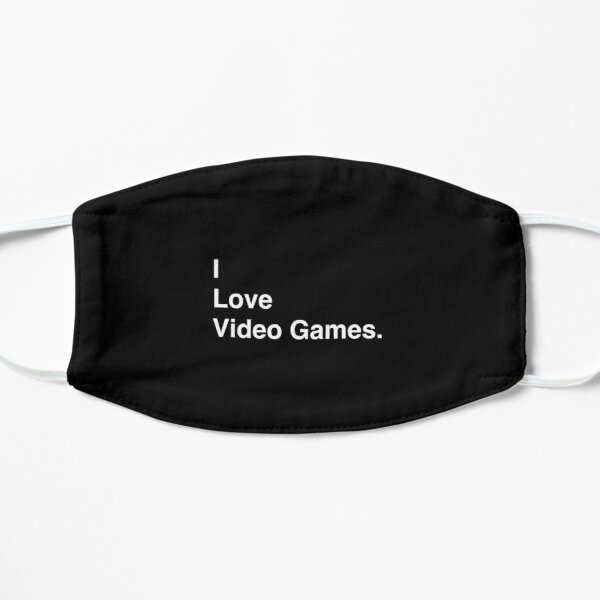 I Love Video Games Simple Text Mask