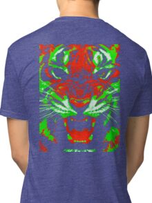 Pop Art Tiger Tri-blend T-Shirt