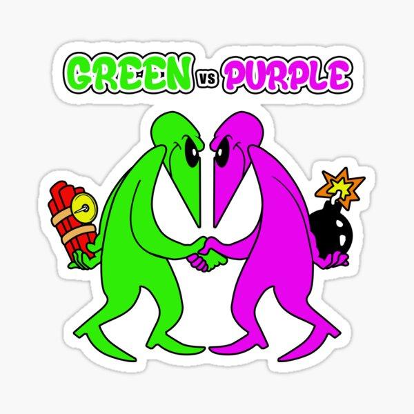 Vert vs violet Sticker