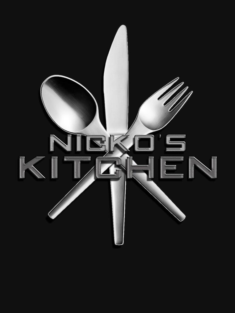 NK - Nicko's Kitchen Logo Unisex by nickoskitchen