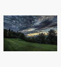Hole #1 Sunset Photographic Print