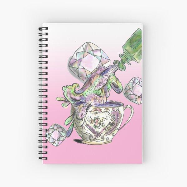Galaxy Tea with Pink Gradient  Spiral Notebook