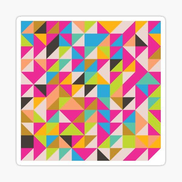 Modern bright geometric abstract pattern Sticker