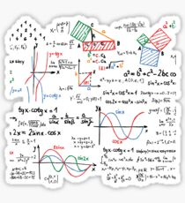 Mathematics Formulas Numbers  Sticker