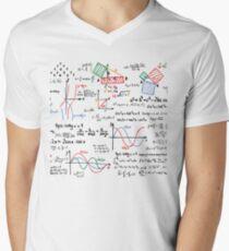 Mathematics Formulas Numbers  Men's V-Neck T-Shirt