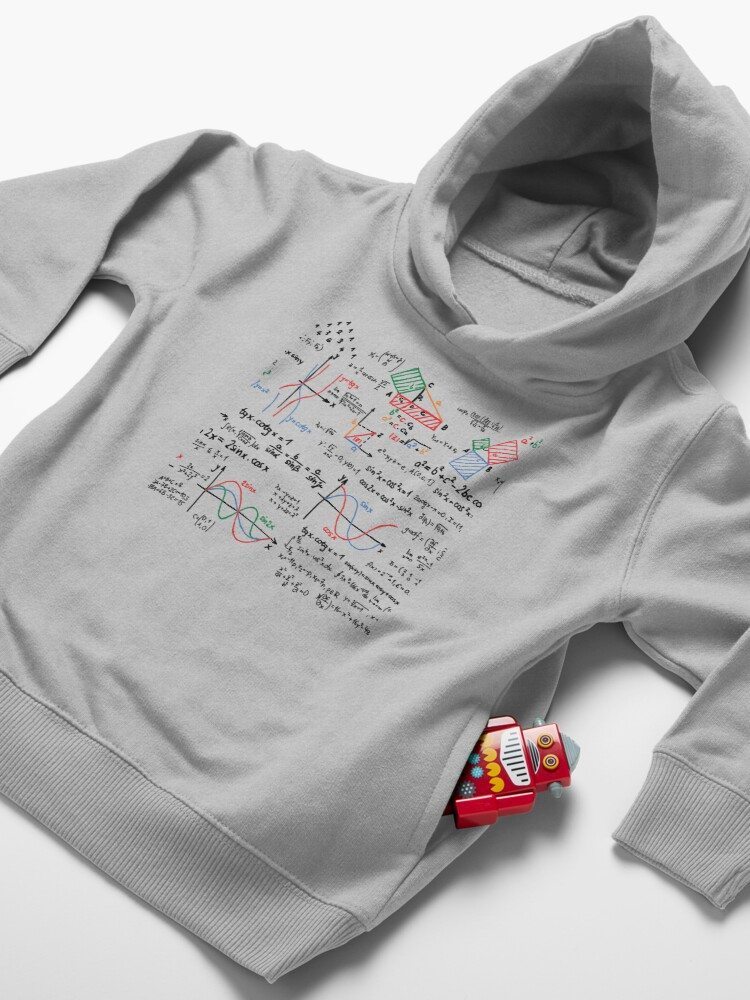 Alternate view of Mathematics Formulas Numbers  Toddler Pullover Hoodie