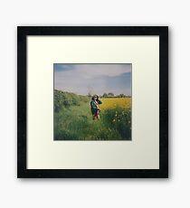 Rapeseed Field Portrait Framed Print