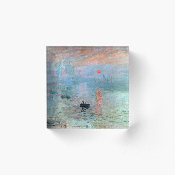 Impression, rising sun, Claude Monet Acrylic Block