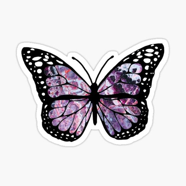 amethyst butterfly Sticker