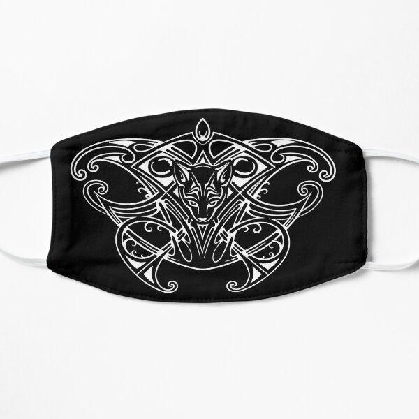 Tribal Cat Tattoo Design Flat Mask