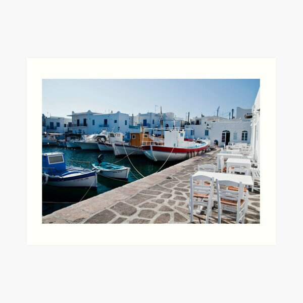 THE PORT OF NAOUSSA ....(1) Art Print