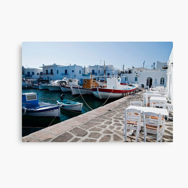 THE PORT OF NAOUSSA ....(1) Canvas Print