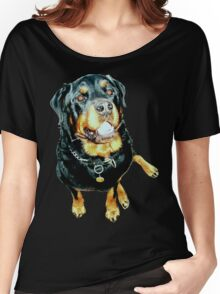 Rottweiler Photo Portrait Women's Relaxed Fit T-Shirt