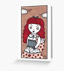 Crimson Curl Greeting Card