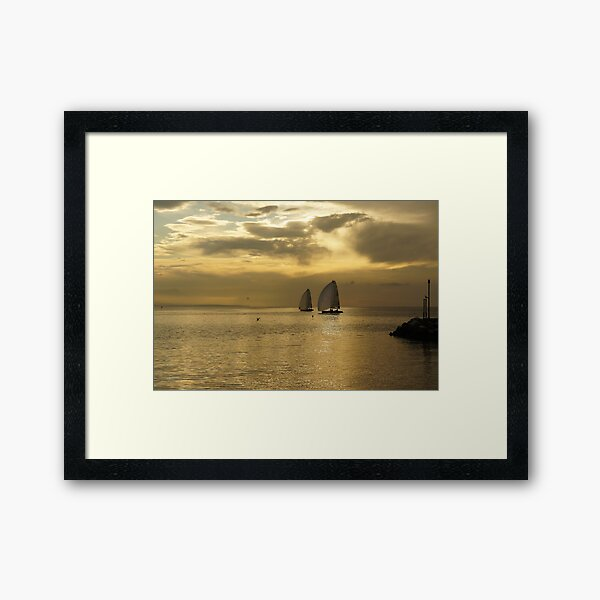 Ouchy - Sunset Framed Art Print