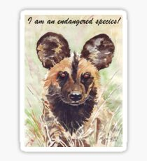 I am an endangered species! Sticker