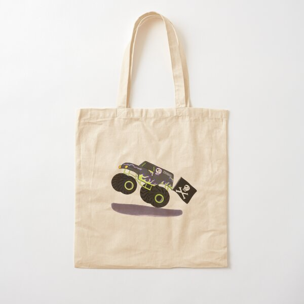 Monster Truck Cotton Tote Bag