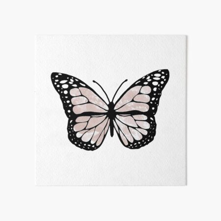 cloudy butterfly Art Board Print