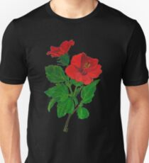 A Tropical Red Hibiscus Flower Isolated Unisex T-Shirt